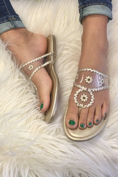 ee3f5a00a7cf It s All Clear Jack inspired Sandals - Gold