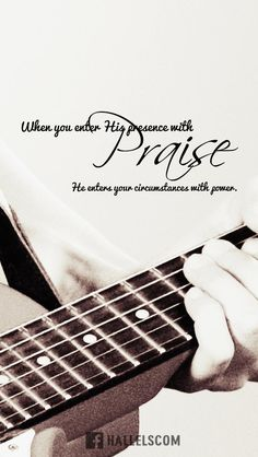Download at http://ibibleverses.christianpost.com/?p=22744  When you enter His presence with Praise, He enters your circumstances with power  #praise #circumstances #worship