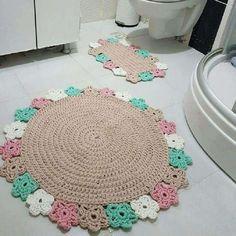 Crochet Wall Art, Crochet Mat, Crochet Carpet, Easy Crochet Blanket, Crochet Teddy, Crochet Dishcloths, Crochet Home, Crochet Crafts, Irish Crochet Patterns