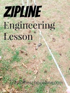 Zipline Engineering Lesson - This is such a fun STEM lesson for kids of all ages! It combines science and math activities to make a really fun educational activity (homeschool, preschool, kindergarten, 1st grade, 2nd grade, 3rd grade, 4th grade, 5th grade, and 6th grade, STEM)