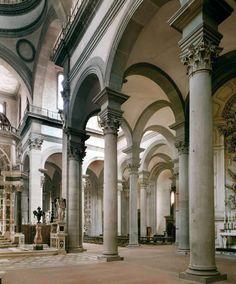 Filippo Brunelleschi Santo Spirito in Florence, Italy. 1444-1446