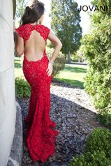 Prom Dresses - Jovani Prom 90676 Long Lace cap sleeves open back