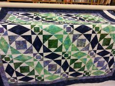 storm at sea quilt borders | jan also made this storm at sea quilt i quilted it with a wave pattern ...