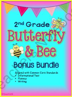 READING LEVEL:  2nd grade Information text, fluency, and writing Common Core Standards are incorporated in this Bee and Butterfly Facts Sentence Shuffle Center bundle. It is on the 2nd grade reading level and is aligned with 1st, 2nd, and 3rd grade Common Core Standards.    **This