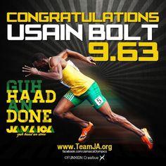 Go #Bolt # Jamaica to di world!