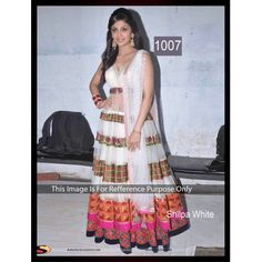 Shilpa Shetty White Floor Length Anarkali At Nach Baliye 2013 - Buy Shilpa Shetty White Long Anarkali Suit Online at Best Prices in India | Vendorvilla.com