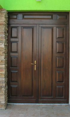 Home Design Plan with 4 Bedrooms. - Home Design with Plansearch Wooden Front Door Design, Wooden Double Doors, Modern Wooden Doors, Double Door Design, Wooden Front Doors, Wood Doors, Modern Entrance Door, Main Entrance Door Design, Room Door Design