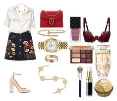 """Без названия #1475"" by txmila on Polyvore featuring мода, River Island, Brandy Melville, Gucci, Aquazzura, Agent Provocateur, Cartier, Too Faced Cosmetics, Rolex и Chanel"