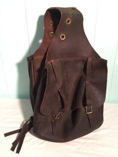 Vintage Weaver Chap Leather Saddle Bags - Brown Saddlebags Horse Motorcycle #WeaverLeather