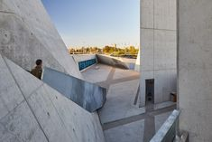 Studio Libeskind's National Holocaust Monument Opens in Ottawa Architecture Site Plan, Chinese Architecture, Architecture Office, Futuristic Architecture, Office Buildings, Light Architecture, Ottawa, Daniel Libeskind, Exposed Concrete