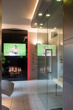 moderne sauna fürs wellness-bad. mir fast ein wenig zu offen ... - Home Office Mit Ausblick Design Bilder