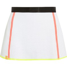 Monreal London Perforated stretch-neoprene tennis skirt ($76) ❤ liked on Polyvore featuring activewear, activewear skirts, white and tennis skirt