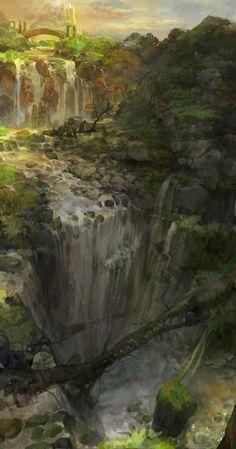 Concept Art Waterfall