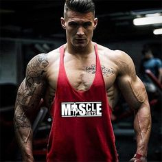 Bodybuilding Clothing, Bodybuilding Workouts, Men's Bodybuilding, Gym Tank Tops, Muscle Tank Tops, Gym Shirts, Workout Shirts, Workout Clothing, Stringer Tank Top