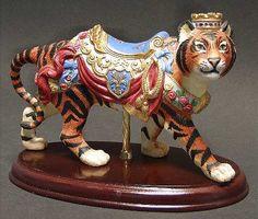 Carousel Statues:  lenox carousel animals; tiger