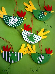 Funkelsteinchen: Hühner-Vögel Easy Crafts For Kids, Toddler Crafts, Preschool Crafts, Diy For Kids, Crafts To Make, Fun Crafts, Twig Crafts, Bird Crafts, Nature Crafts