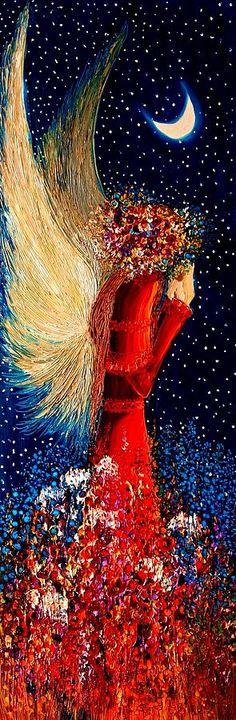 Angel... Painting byJustyna Kopania