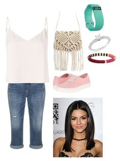 """""""Untitled #362"""" by rikey-byrnes on Polyvore featuring Silver Jeans Co., L'Agence, Fitbit, Ice and Vans"""