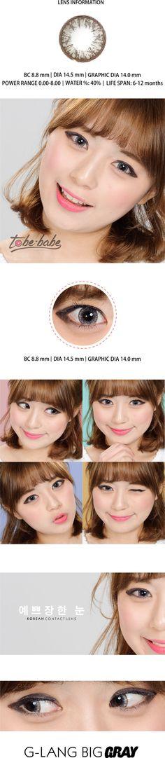 G-lang Big Gray – Korean Color Contact Lens