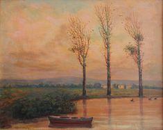 1951 – Edfu, Egypt Dimensions : 17 x 26 cm Oil on wood
