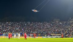 The first football match to be abandoned over drone-related violence?