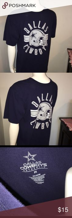 """Men's Dallas cowboy short sleeve T-shirt Sz: M Thank you for viewing my listing, for sale is a men's, short sleeve, NFL, Dallas Cowboys, SS t-shirt. Shirt shows the Dallas Cowboys helmet  Sz: M Team: DALLAS COWBOYS  If you have any questions or would like additional photos please feel free to ask.  From under one arm to under the other measures appx 20"""" from the top of the shoulder to the bottom of the shirt measures appx 27"""" dallas cowboys Shirts Tees - Short Sleeve"""