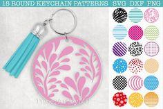 Keychain Design, Diy Keychain, Leather Keychain, Acrylic Keychains, Cricut Tutorials, Cricut Ideas, Circle Pattern, Design Bundles, Journal Cards