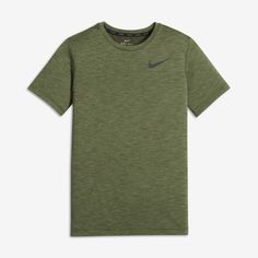 Nike Dry Big Kids' (Boys') Short Sleeve Training Top Size Small (Green)
