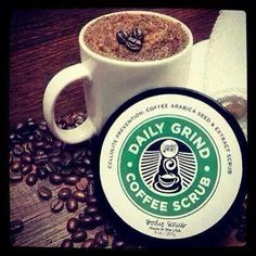 For all coffee lovers!!! Get your coffee fix with the daily grind scrub!!! Check it out at www.unwindwithposh.com or email me for more information.
