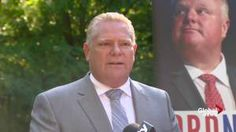 Doug Ford says he's re-entering politics, targets Justin Trudeau (Global News 13 September 2016)