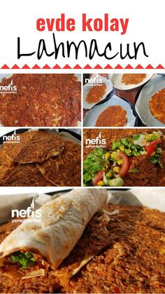 How to make Easy Lahmacun Recipe at home? Diet Recipes, Snack Recipes, Snacks, Turkish Pizza, Turkish Recipes, Ethnic Recipes, Make It Simple, Food And Drink, Appetizers