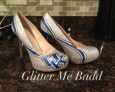 Hey, I found this really awesome Etsy listing at http://www.etsy.com/listing/158500191/university-of-kentucky-glitter-heels