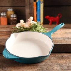 "The Pioneer Woman Timeless Cast Iron, 10"" Cast Iron Enamel Skillet - Walmart.com"
