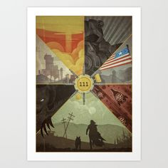Fallout 4 Poster by Lazare Gvimradze Fallout New Vegas, Fallout 4 Funny, Fallout 4 Poster, Fallout Fan Art, Fallout Theme, Dark Souls, Fallout Wallpaper, Arte Zombie, Bethesda Games