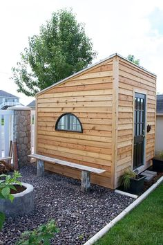 diy backyard garden shed (aka playhouse aka office). Backyard Playhouse, Build A Playhouse, Modern Playhouse, Backyard Fort, Backyard Studio, Modern Backyard, Backyard House, Backyard Office, Outdoor Office