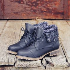 The Nor'wester Boots in Black, Sweet & Rugged boots from Spool No.72   Spool No.72