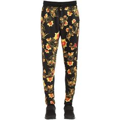 Nike Men Floral Printed Acetate Track Pants ($86) ❤ liked on Polyvore featuring men's fashion, men's clothing, men's activewear, men's activewear pants, mens track pants and mens activewear pants