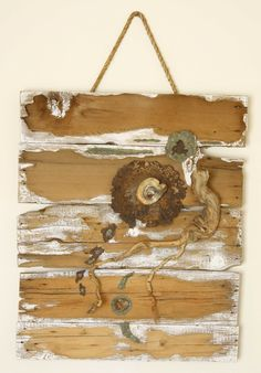 6 - Weathered wood - driftwood - acrylic paint - found objects