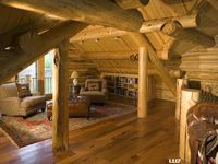 Have the log home library that beats all libraries. Log cabin  luxurious seclusion and privacy. eLogHomes.Com: Idea Well