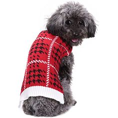 Patgoal Winter Pet Dog Red Knitted Sweater Knitwear Costume for Christmas Holiday -- Check out the image by visiting the link. (This is an affiliate link) #DogApparelAccessories
