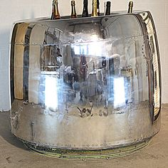 Our DC9 cowling champagne chiller