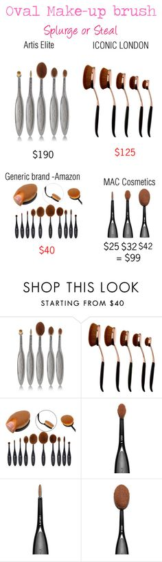 """Splurge or Steal: Oval face brushes"" by krys-imvu ❤ liked on Polyvore featuring beauty, Artis and MAC Cosmetics"
