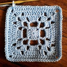 "Mary Square 5.5"" - free crochet pattern by BabyLove Brand."