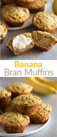 Easy and moist Banana Bran Muffins made with bran cereal, buttermilk, and ripe bananas. They make a healthy breakfast or on-the-go snack. via Banana Bran Muffins are the perfect breakfast or on-the-go snack that is also freezer friendly! Healthy Muffins, Healthy Snacks, Healthy Nutrition, Healthy Drinks, Nutrition Tips, Stay Healthy, Nutrition Websites, Healthy Cupcakes, Healthy Eating
