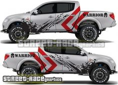 BUY Mitsubishi L200 Warrior rally raid style graphics from street-race.org