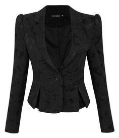 blazer feminino em jacquard modelo peplum