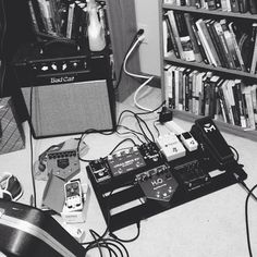 gutted out 1930 s radios turned into 15w tube guitar amps check npojosh s pedal board and bad cat cougar 5
