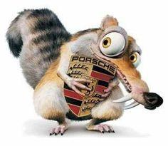 Framed Print - Scrat The Ice Age Squirrel Hugging His Acorn (Picture Poster Art) Porsche Macan Gts, Porsche Cayenne Gts, Macan S, Boxster S, Porsche Club, Porsche Logo, Elf, Best Facebook Cover Photos, Porsche Models