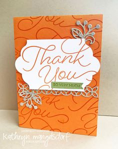 Stampin' Up! So Very Much, Sale-A-Bration, Thank You Card created by Kathryn Mangelsdorf