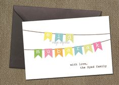 Little Flags Eid Card PRINTABLE by MagicImprints on Etsy, $12.00